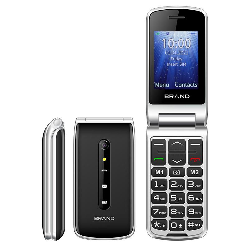 UNIWA F247L flip phone black