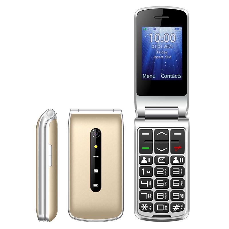 UNIWA F247L flip phone gold