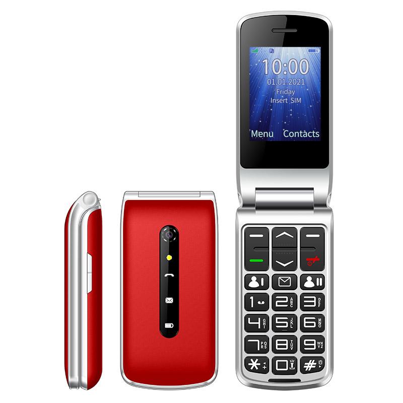 UNIWA F247L flip phone red