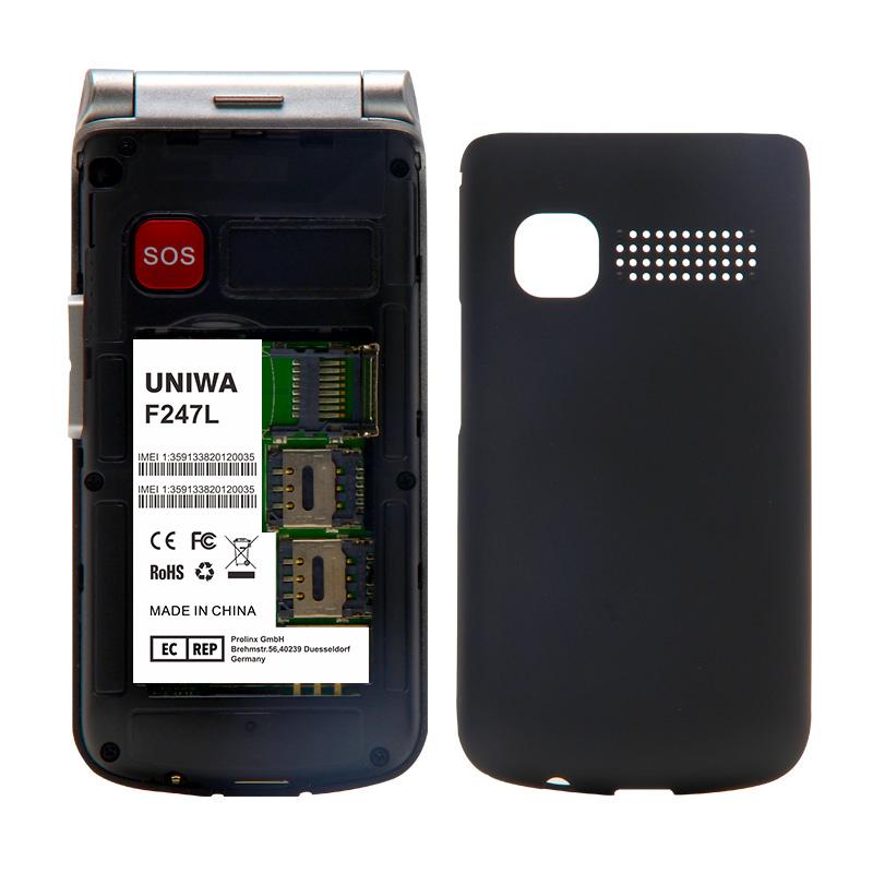 UNIWA F247L flip phone 02